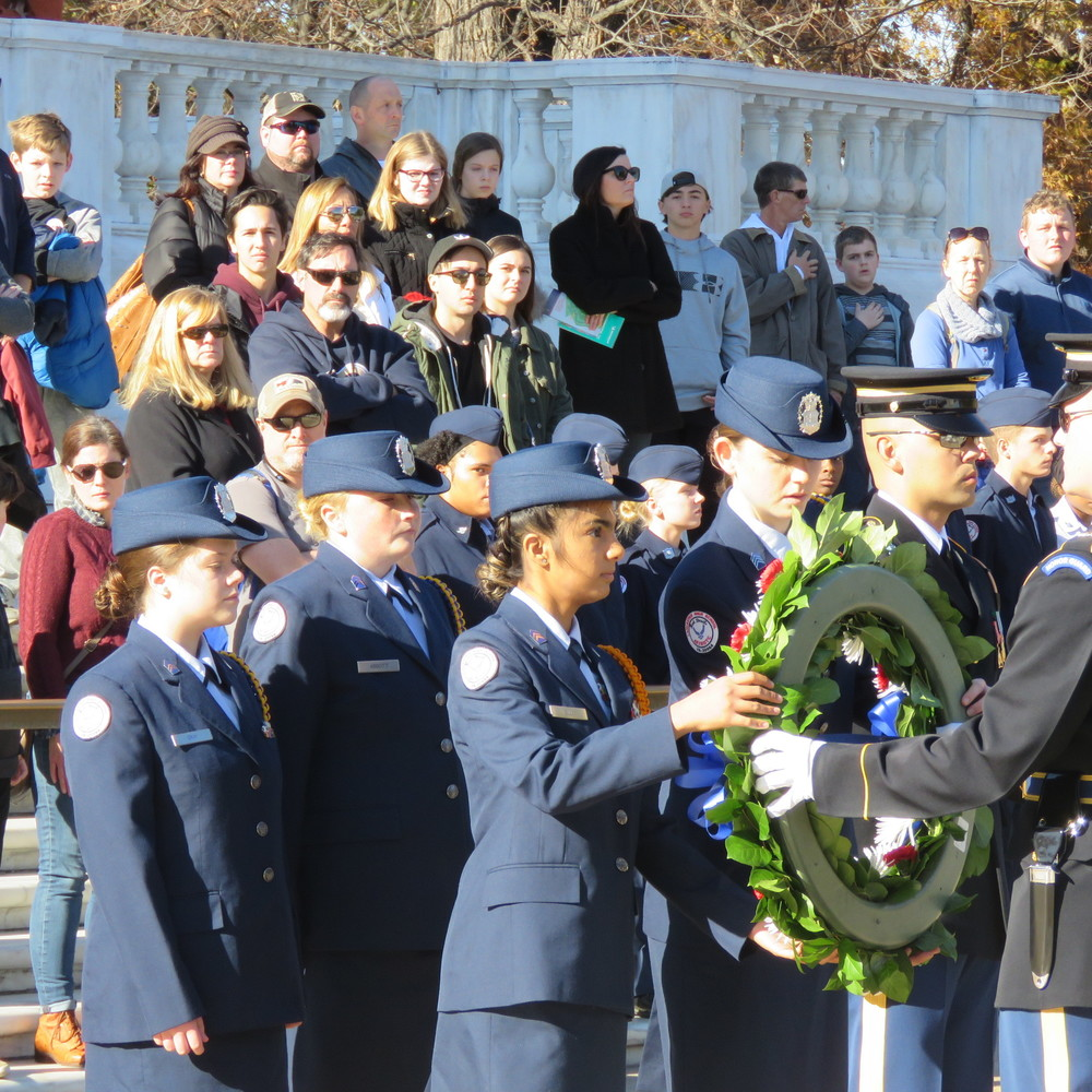 LHS Air Force JROTC at the Tomb of the Unknown Soldier