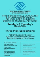 Boys and Girls Club Annoucement