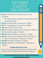 LHS October Counseling Calendar